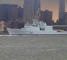 Canadian Battleship on The Hudson Rv. by pmarella