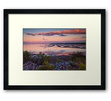 The Magic Hour Shornecliffe Mudflats Brisbane Australia Framed Print