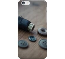 Buttons and Thread iPhone Case/Skin