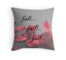Falling Petals Throw Pillow
