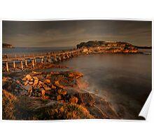 Bear Island at La Perouse at sunset Poster