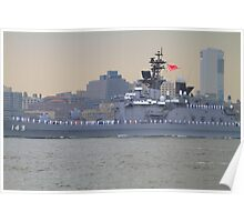 Japanese Battleship On The Hudson Rv. Poster