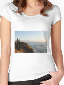 Cape Disappointment Lighthouse, Washington Women's Fitted Scoop T-Shirt