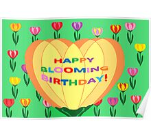 Happy Blooming Birthday! (card) Poster