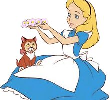 Sticker - Alice in Wonderland by SBRGdesign