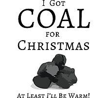 Christmas Coal Photographic Print