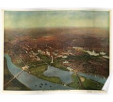Panoramic Maps Bird's-eye view of Washington DC--the nation's capital Poster
