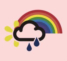 A chance of rainbows Kids Tee