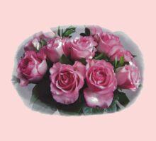 Pink Rose Bouquet Kids Clothes