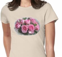 Pink Rose Bouquet Womens Fitted T-Shirt