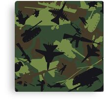 Military Camouflage Pattern Print Canvas Print