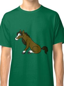 Brown Horse with Blaze Classic T-Shirt