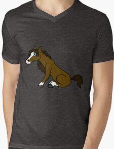 Brown Horse with Blaze Mens V-Neck T-Shirt