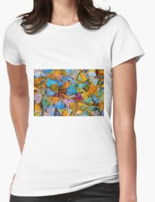 Fallen Ginkgo Leaves Womens Fitted T-Shirt