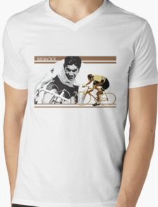 vintage poster EDDY MERCKX: the cannibal Mens V-Neck T-Shirt