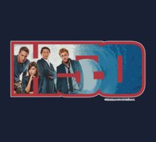 Hawaii Five-O 'H5-O' Logo Cast 1 (Red Outline) by Sharknose