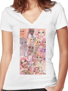 Rupaul's Drag Race Trixie Mattel Women's Fitted V-Neck T-Shirt