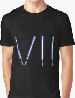 Star Wars The Force Awakens (Episode Seven) VII Blue Lightsaber Graphic T-Shirt