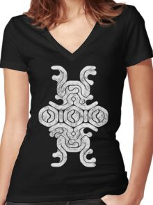 Shadow of the colossus Tshirt textured Women's Fitted V-Neck T-Shirt