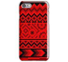 dark red pattern pixel iPhone Case/Skin