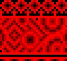 dark red pattern pixel Sticker