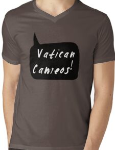 Vatican Cameos! (White text)  Mens V-Neck T-Shirt