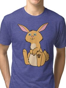 Sitting Fawn Rabbit Tri-blend T-Shirt