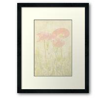 Poppies Monet Style Framed Print