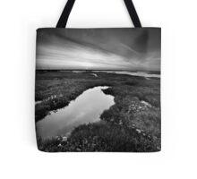 Salt Marsh Sunset BW Tote Bag