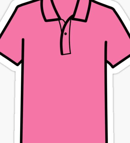 Pink A** Polo Sticker