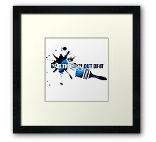 """Bob Ross """"Beat the devil out of it"""" Framed Print"""