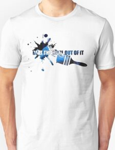 """Bob Ross """"Beat the devil out of it"""" T-Shirt"""