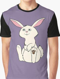 Sitting Cream Rabbit Graphic T-Shirt