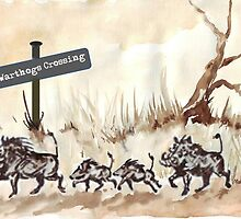 Warthogs Crossing by Maree  Clarkson