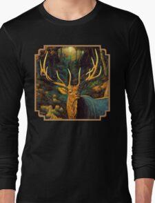 Autumn Majesty - Elk Oil Painting Long Sleeve T-Shirt