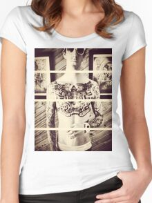 Dapper Boy Tattoo'd Women's Fitted Scoop T-Shirt