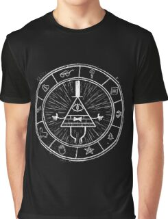 Gravity Falls Bill Cipher - White on Black Graphic T-Shirt