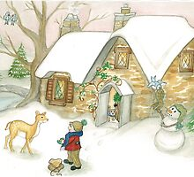 DEER COTTAGE by Lynn Wright