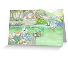 BUNNY PICNIC Greeting Card