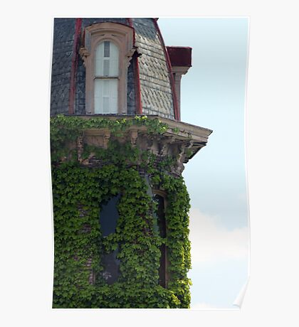 Ivy Covered Turret Poster