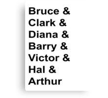 Justice League Names Canvas Print