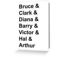 Justice League Names Greeting Card