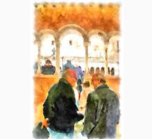 Saint Scolastica monastery: men in cloister Unisex T-Shirt