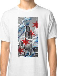 Chicago Flag Skyline Tower Classic T-Shirt