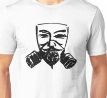 Fawkes Gas Mask Unisex T-Shirt