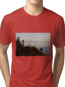 Cape Disappointment Lighthouse, Washington Tri-blend T-Shirt