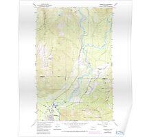 USGS Topo Map Washington State WA Darrington 240782 1966 24000 Poster