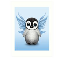 Cute Baby Penguin with Blue Fairy Wings Art Print
