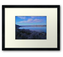 Landscape at Abert Rim, Oregon Framed Print