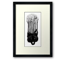 Wolf barcode Framed Print